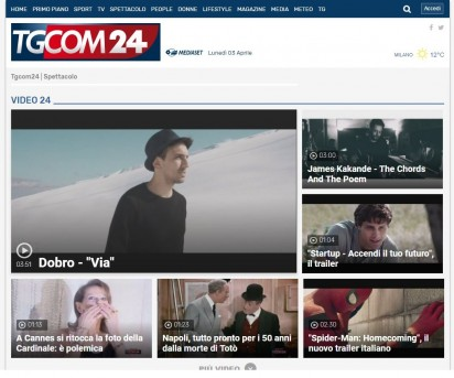 On-line su Tgcom24 il video di