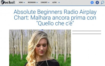 Absolute Beginners Radio Airplay Chart di Rockol: Malhara ancora prima con